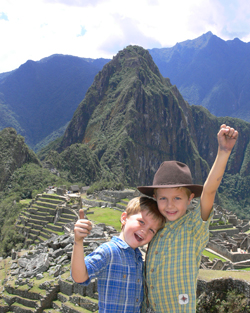 Nathan and Seamus on our first family trip to Machu Picchu, Peru