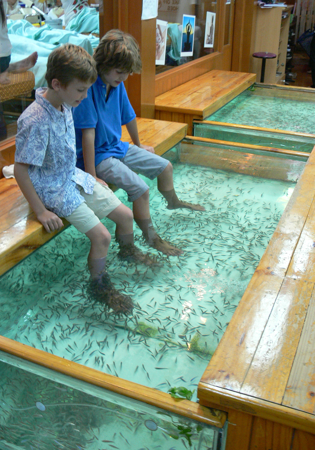 Thailand with kids for Fish eating dead skin spa