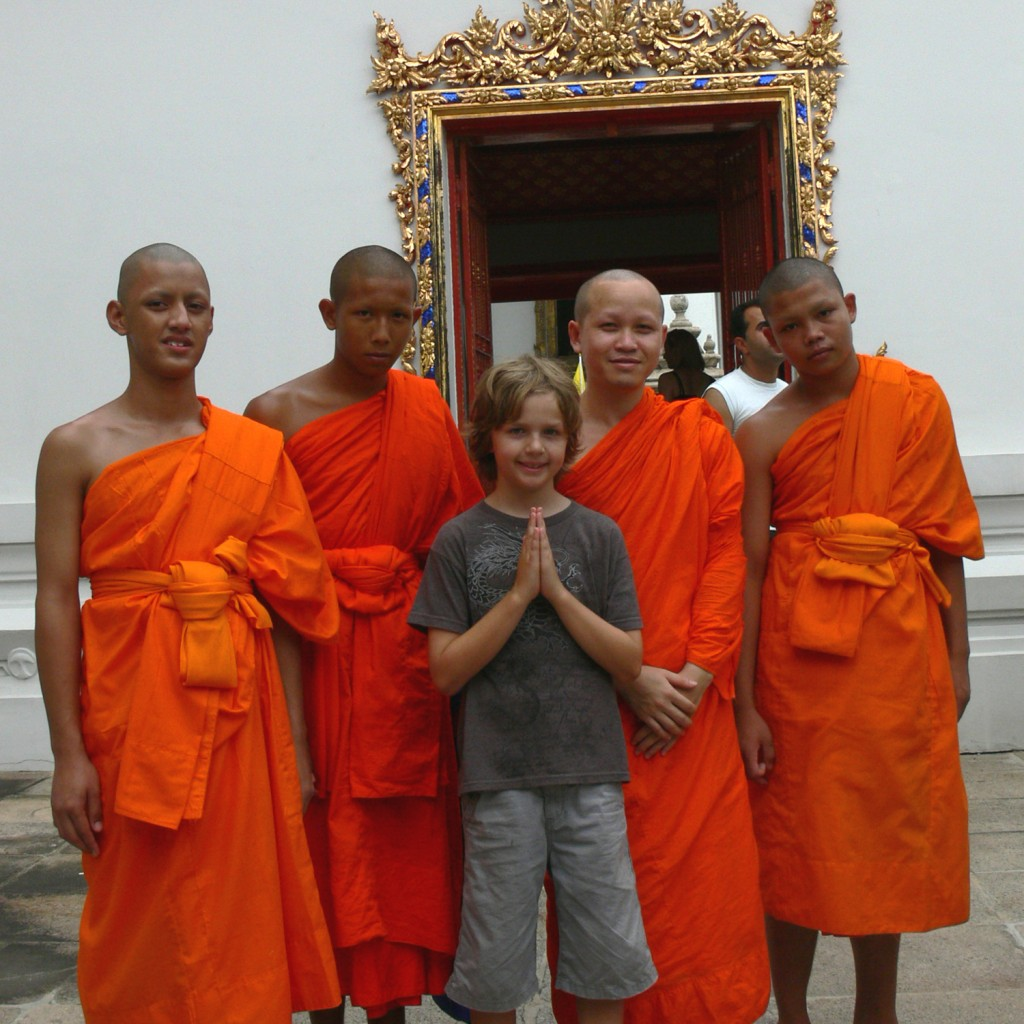 nathan with monks