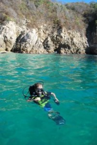 Scuba Diving with Family. Mexico