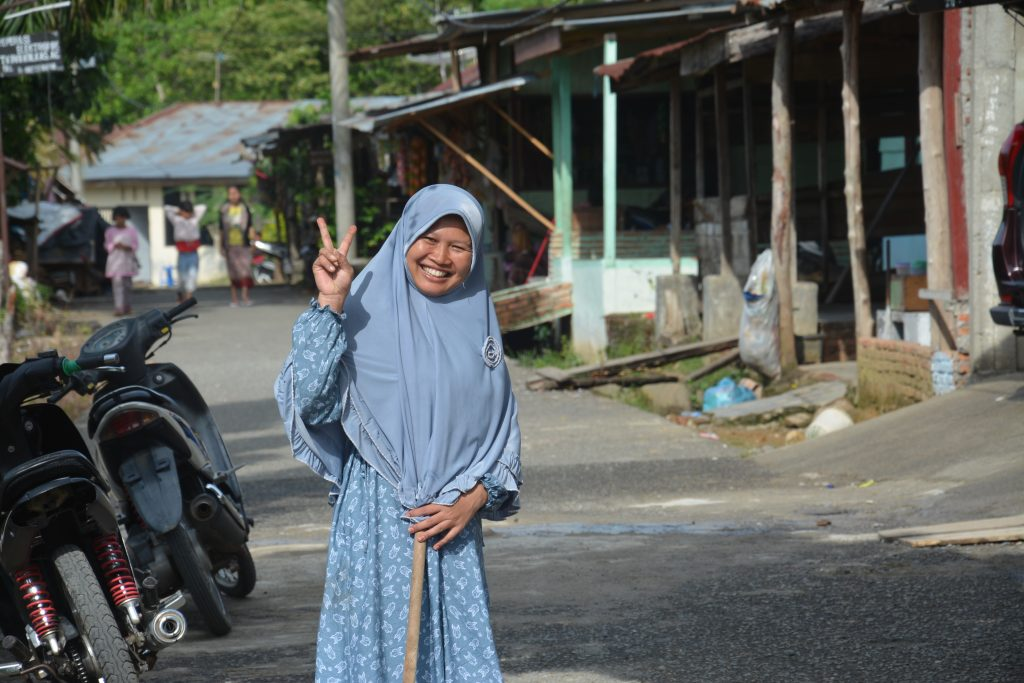 Muslim woman, Bukit Lawang, Sumatra, Indonesia