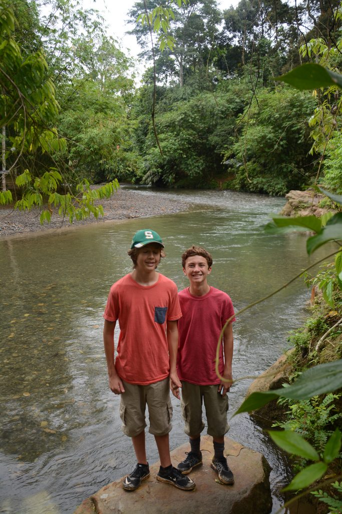 River near Bukit Lawang in Indonesia