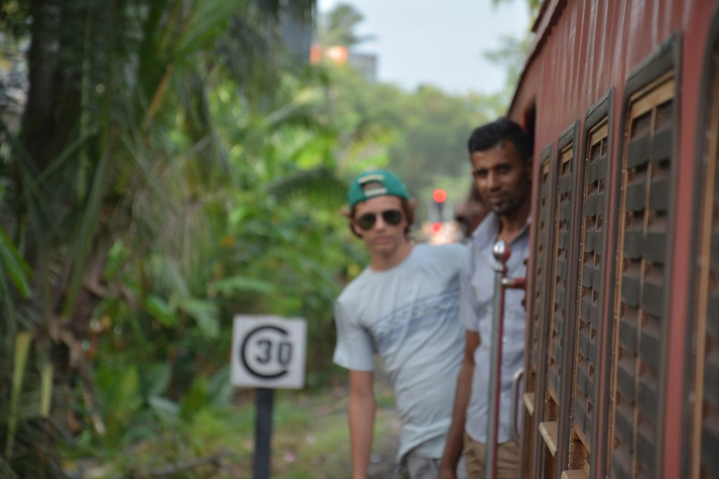 train from Colombo to Galle, Sri Lanka