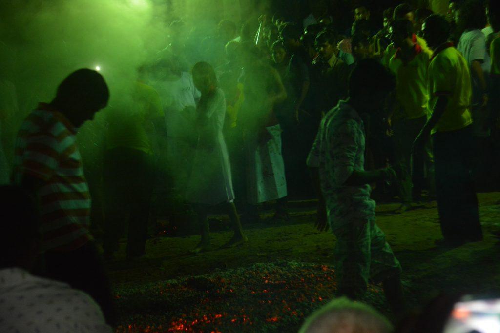 Fire walking, July Full Moon Festival, Unawatuna, Sri Lanka
