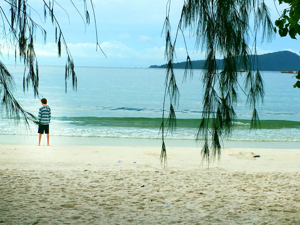 View from our $30/night beach hut on Ko Rong, Cambodia