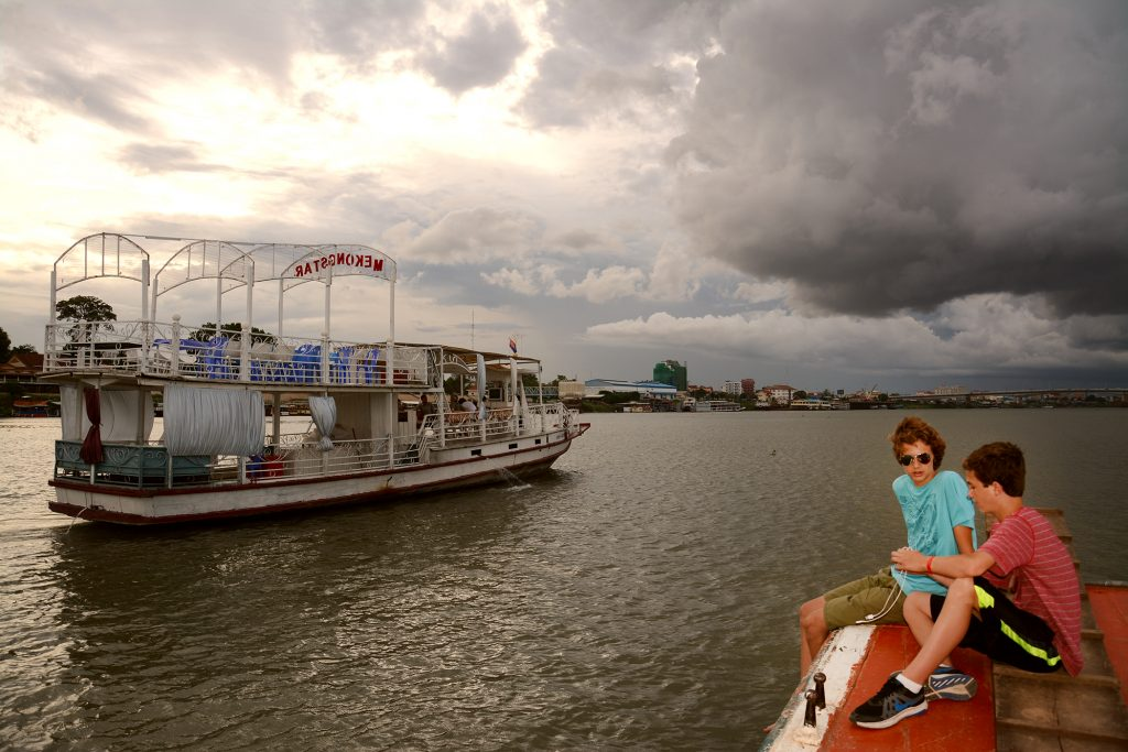 Sunset Cruise on Mekong River, Phnom Penh, Cambodia