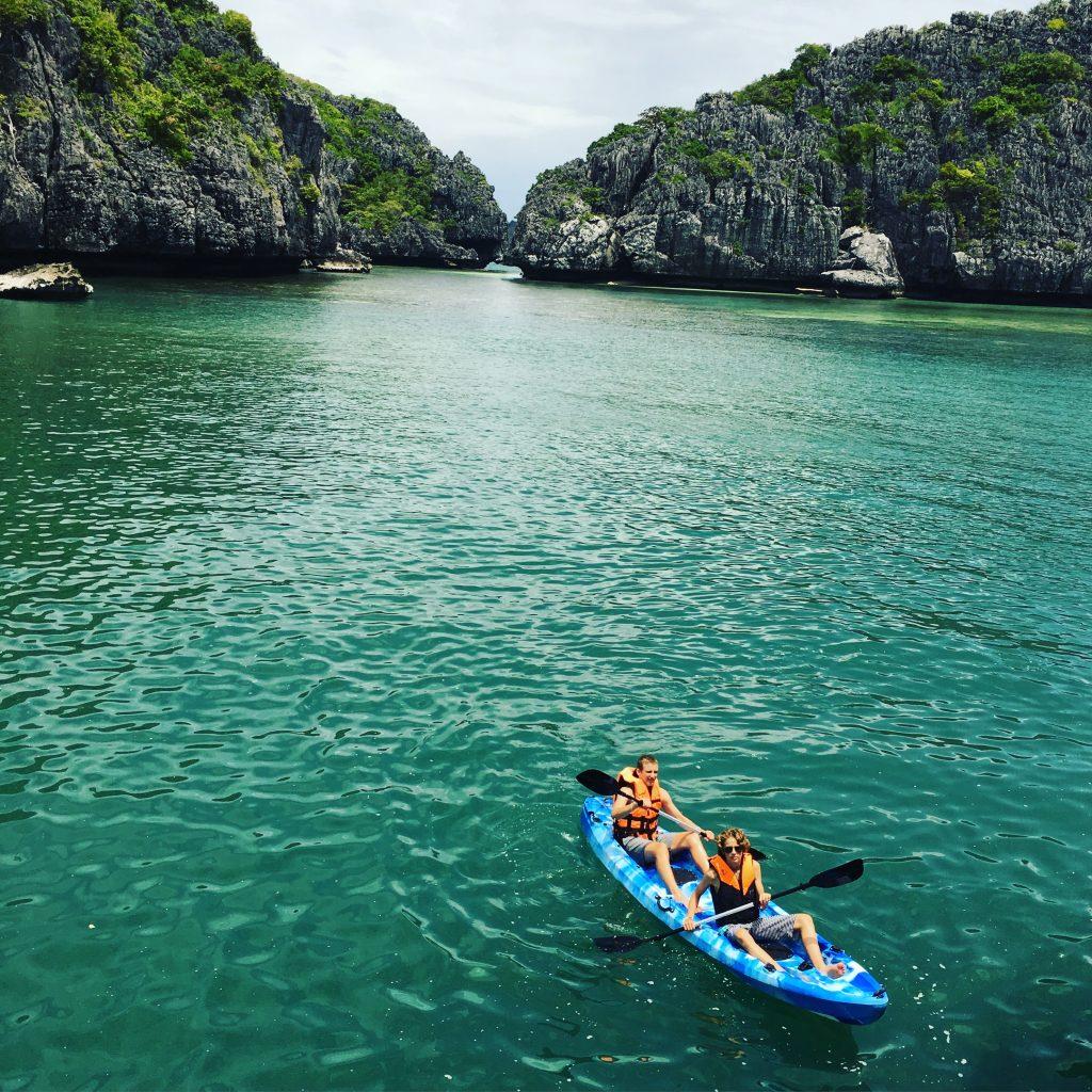 Kayaklng, Ang Thong National Park, Ko Samui, Thailand