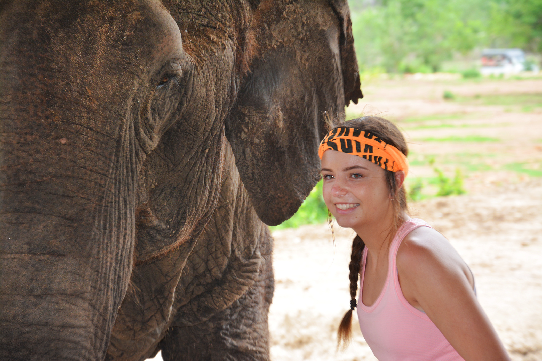 Lauren With Elephant