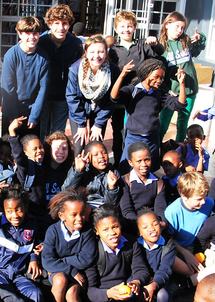 Travel With Kids Group on TWK Tour - volunteering in Langa Township, Capetown, South Africa