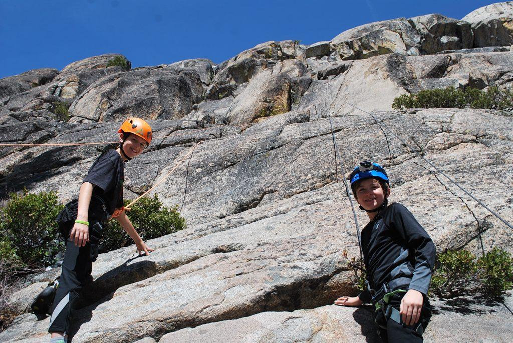 Rock climbing near Lake Tahoe