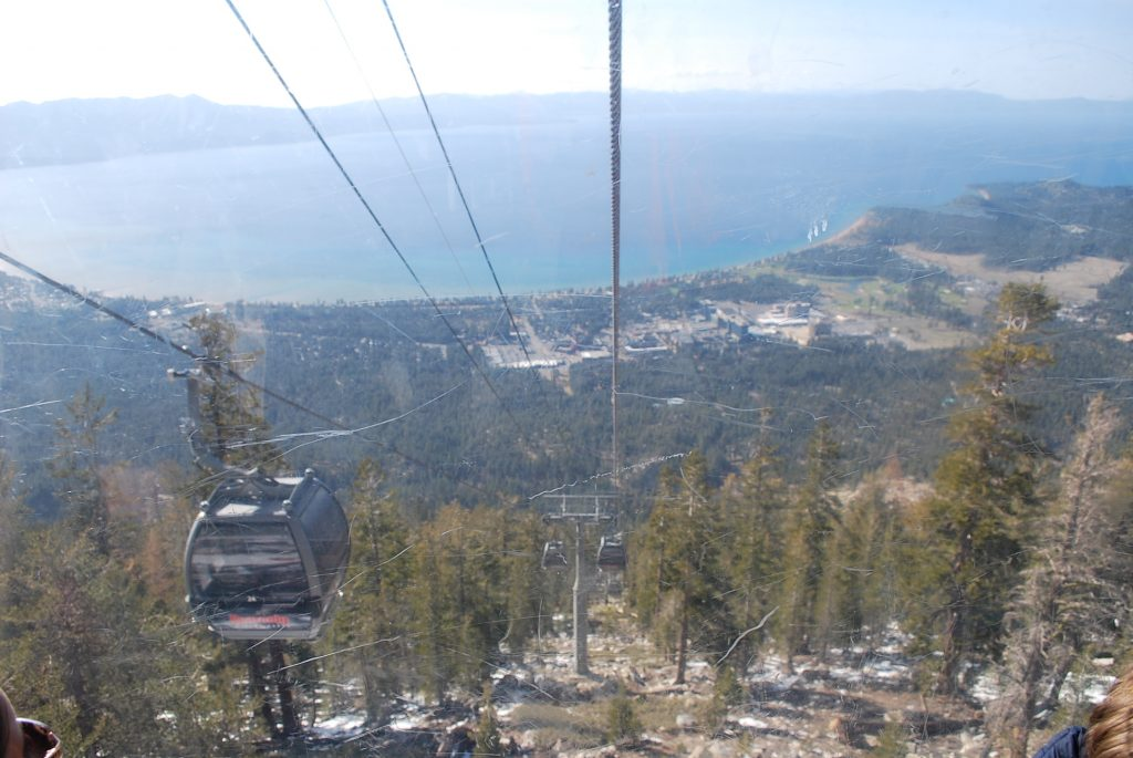 View from gondola at Heavenly during spring break