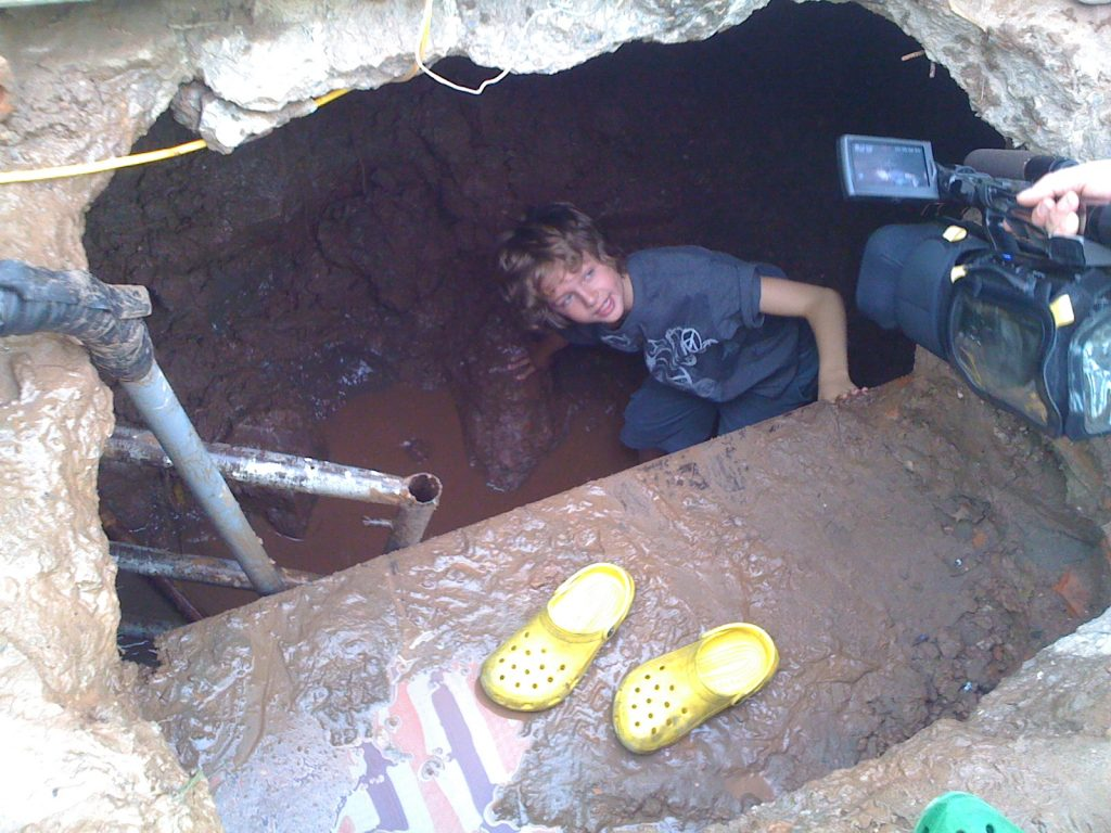 Discovering bomb shelter, Hotel Metropole, Hanoi, Vietnam
