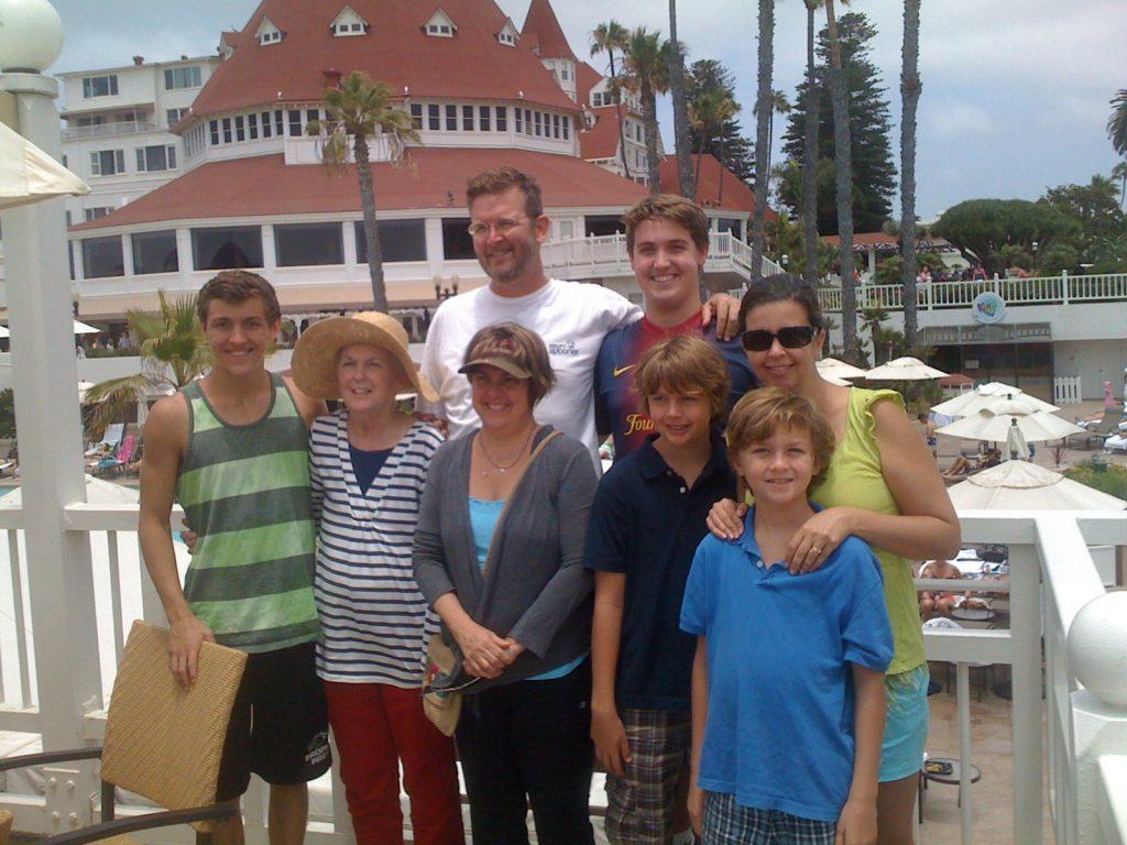 Family trip, Hotel Del Coronado, San Diego, California