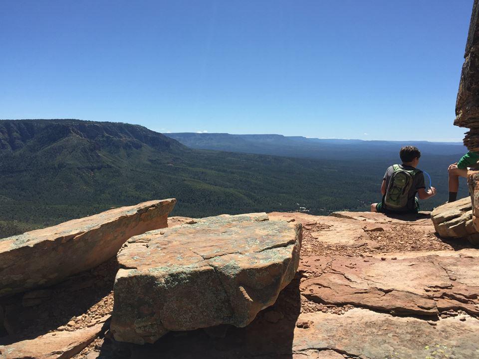 Seamus hiking Grand Canyon