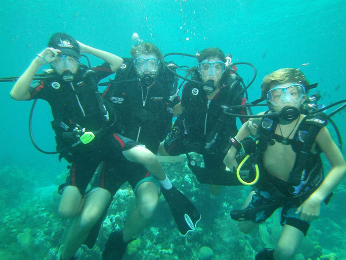 Family Diving Picture